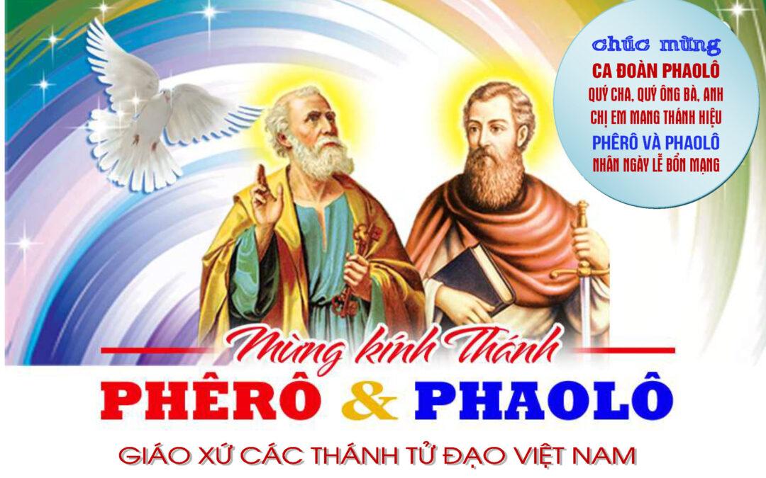 CHÚC MỪNG LỄ BỔN MẠNG CA ĐOÀN PHAOLÔ